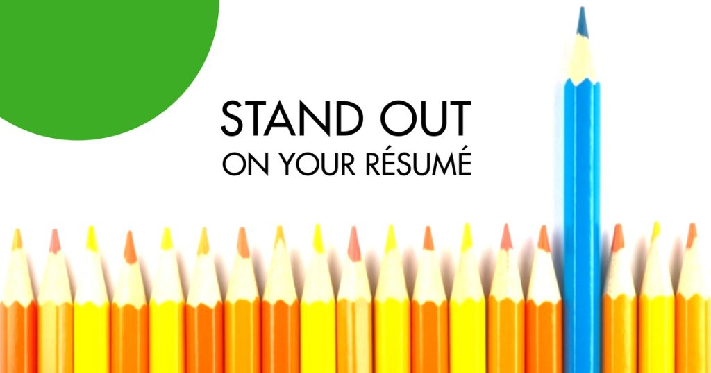 resumés that stand out