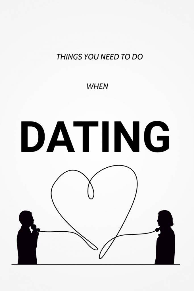 while dating